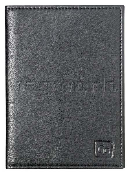 GO Travel RFID Leather Passport Cover Black GO672