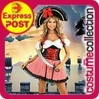 Swashbuckler Pirate Fancy Dress Pirate Costumes Costumes Adults Female Red Costume Collection
