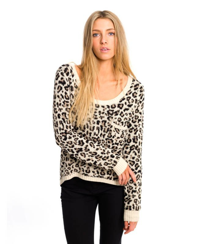 BILLABONG LIV FOR LUV JUMPER IN CHEETAH