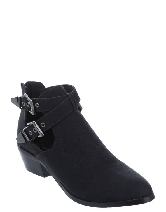 SPURR Fern Cut out Boots Boots Black