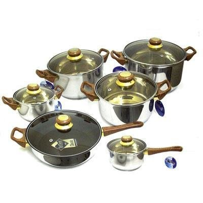 12pc BRIENZ Kitchen Cookware Set
